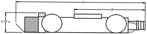 Sidesloper 4 inch Wheeled Carrier diagram