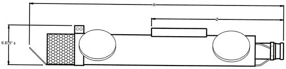 Sidesloper 5 inch Wheeled Carrier diagram