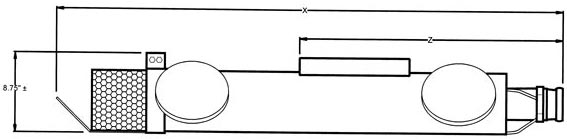 Sidesloper 6 inch Wheeled Carrier diagram