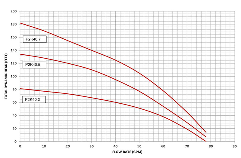 P2K-40 pump curves data